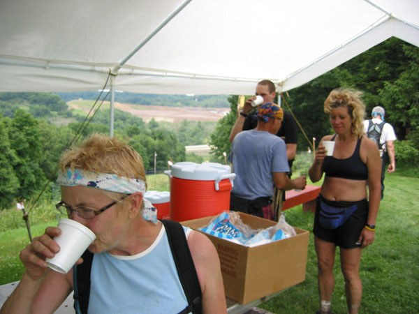 Barb Peterson rehydrates