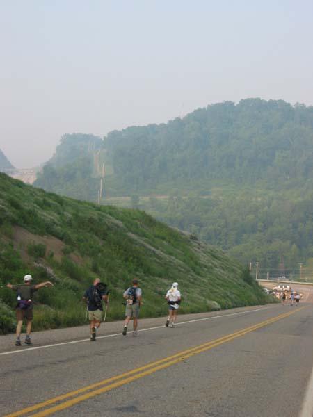 Down Ridge Rd. approaching Checkpoint 1