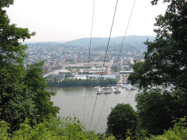 New Kensington and the Allegheny River from the trail