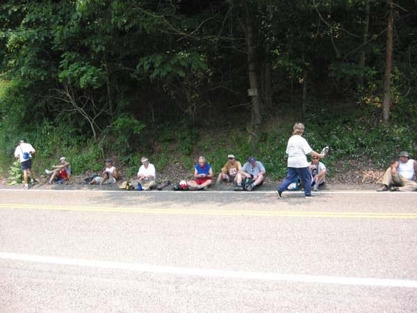 Volunteer offers weary Challengers sustenance