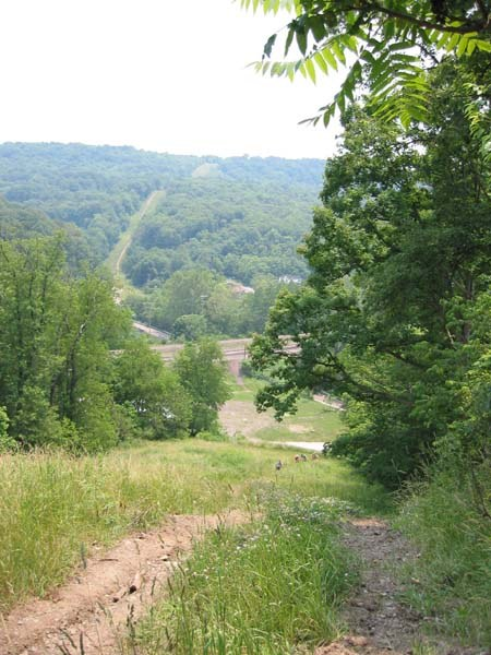 Looking back from LaFever Hill