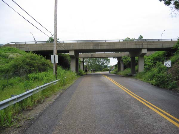 Approaching Route 28 overpass