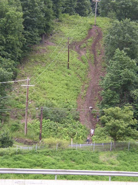Another view of the steep Murry Hill